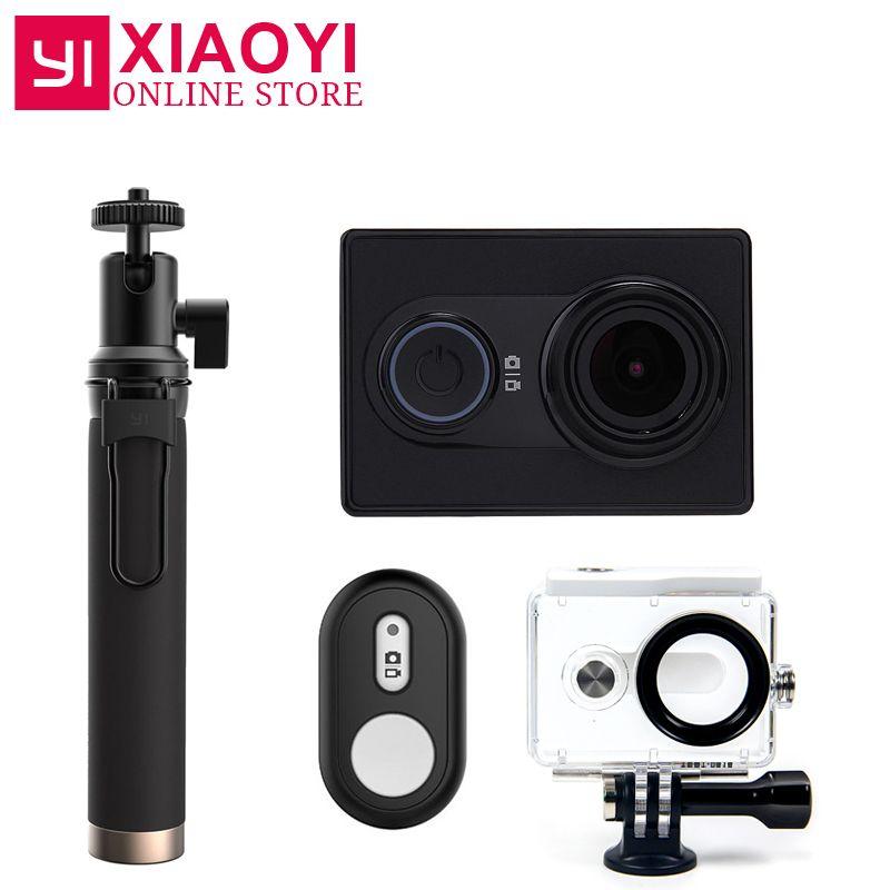NEW Original Xiaomi YI Action Sports Camera <font><b>Xiaoyi</b></font> WiFi Action Cam 3D Noise Reduction 16MP 60FPS Ambarella International Edition