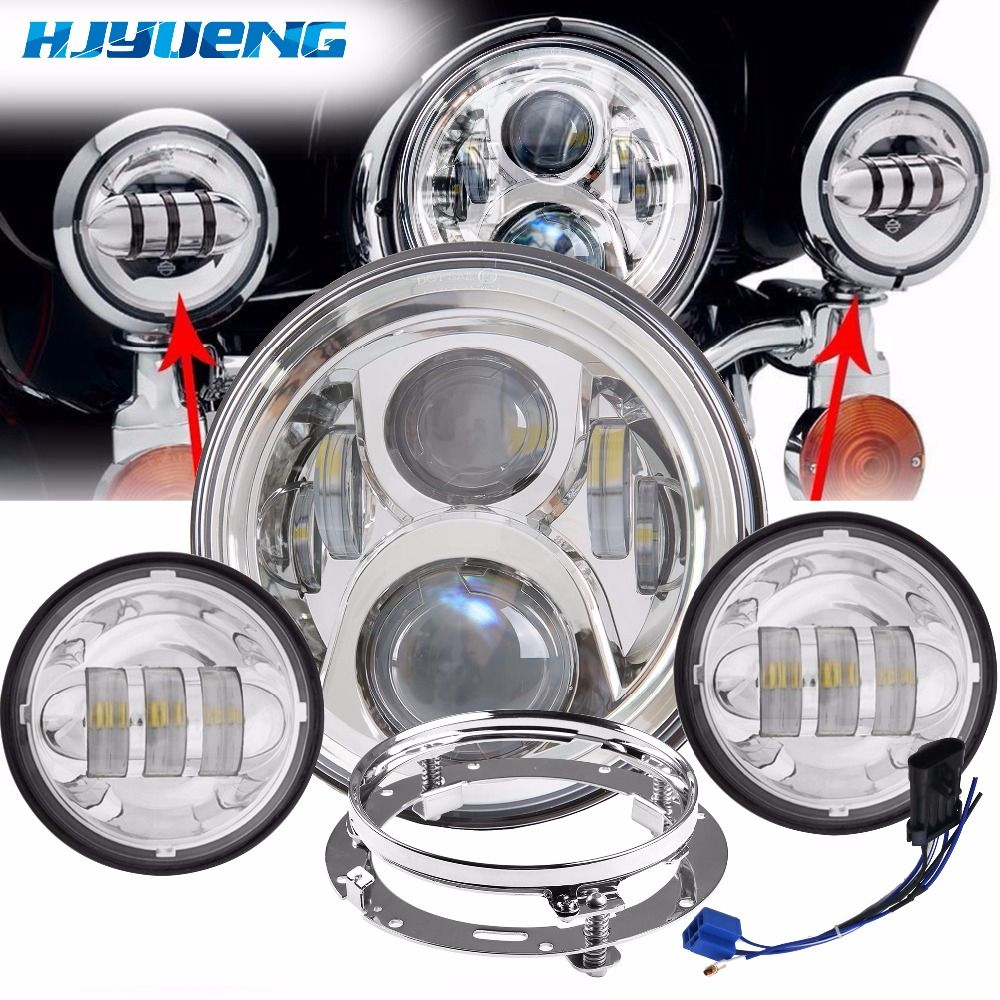 LED Headlight Chrome Passing Auxiliary Spot Mounting Bracket 7inch& 4.5inch For Harley David Bike LED Headlight Mounting Bracket