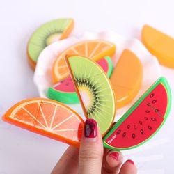 3 piezas nuevo de Kawaii cinta de la corrección de la fruta para los niños estudiantes suministros de la escuela papelería coreana
