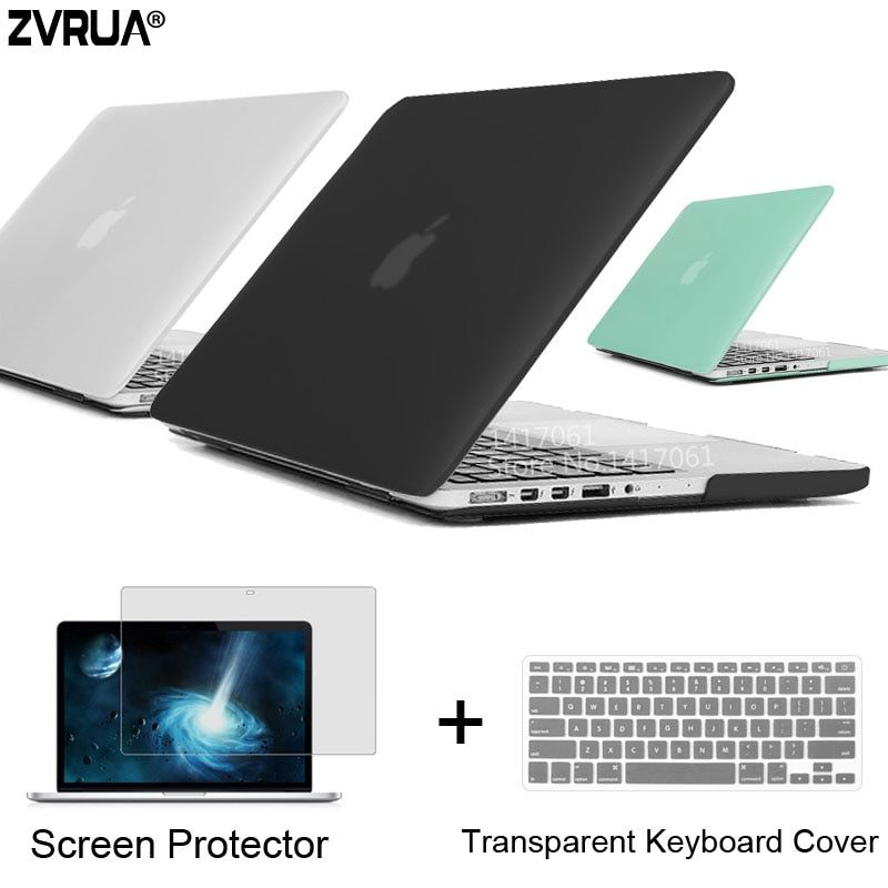 Zvrua Best ноутбука чехол для MacBook 13 15 дюймов Pro с Retina a1502 A1398/CD Встроенная память A1278 A1286 + крышка клавиатура + Экран протектор