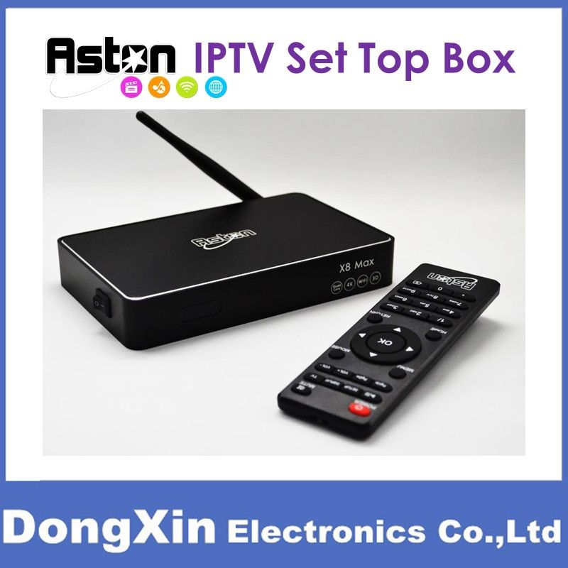 Aston X8 Max Android IPTV Box HDTV MYIPTV 88TV
