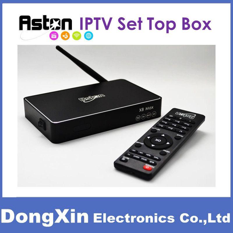 Aston X8 Max Android IPTV Box HDTV MYIPTV 88TV