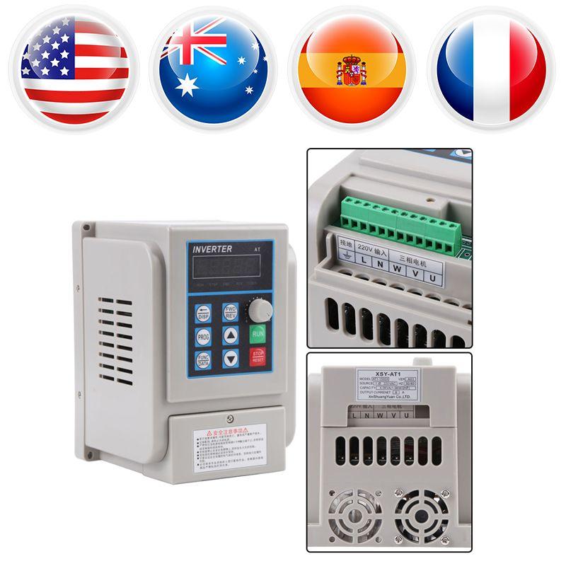 AC 220V Frequency Converter 1.5KW Variable Frequency Drive Converter VFD Speed Controller Converter Inversorde Onda Senoidal