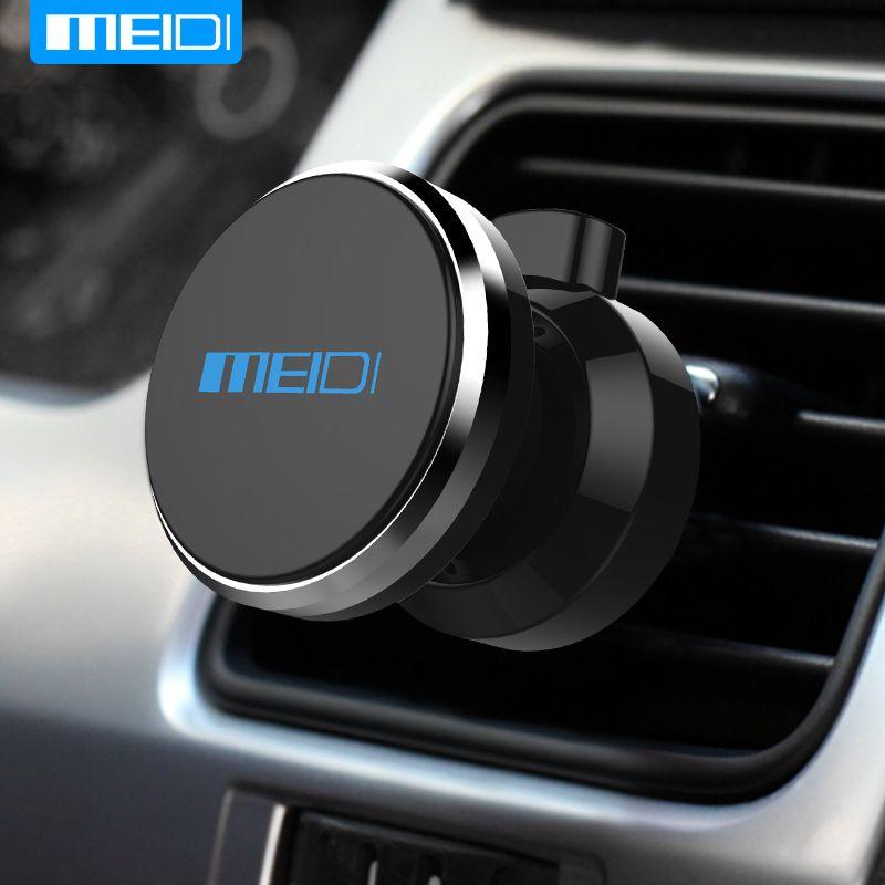 Meidi автомобильный держатель телефона на 360 градусов регулируемые вентиляционные отверстия магнит держатель Soporte movil для iPhone 6 7 Мобильный авт...