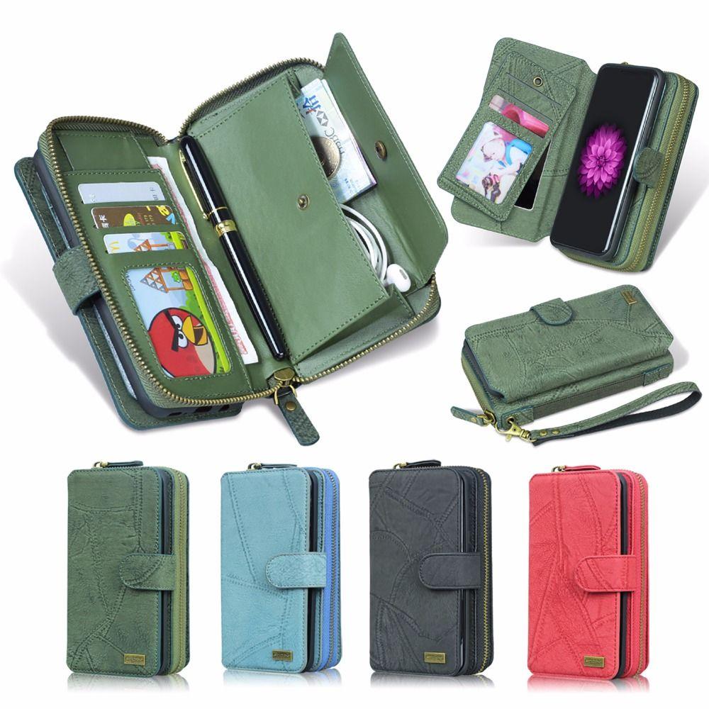 Pour LG G6 Cas MEGSHI Véritable De Luxe 2 dans 1 Amovible PU Cuir de Chiquenaude de Pochette Pour LG G5 Cas g4 G3 Couverture Lanière Téléphone Cas