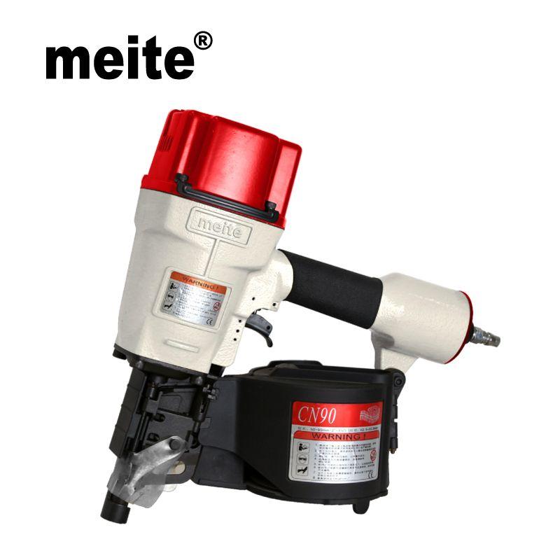 MEITE CN90 3 1/2 industriespule nagler air pistole Pneumatische spule nagler für holzpaletten May.5th Update werkzeug