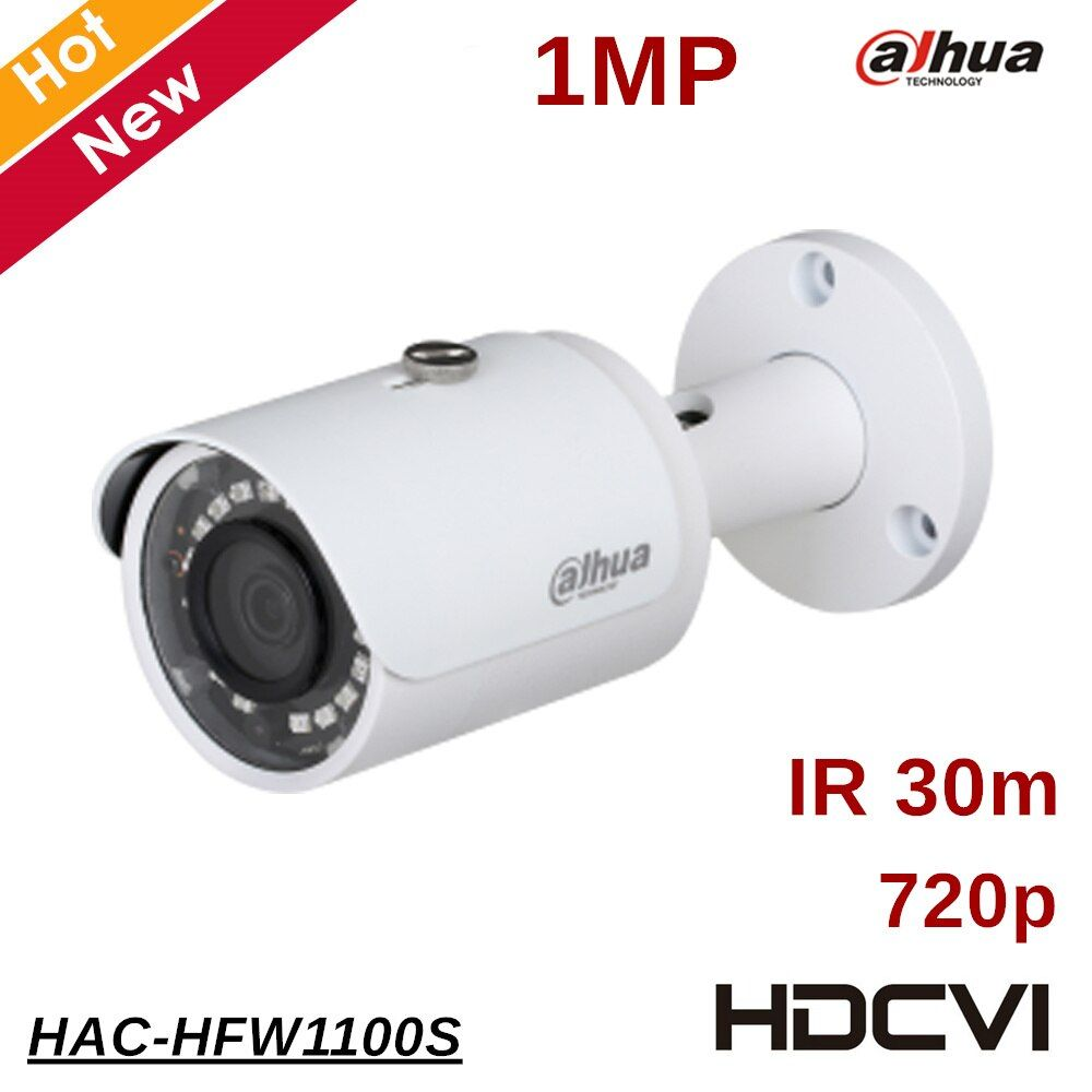 100% Original 1mp Dahua HDCVI Camera Outdoor Waterproof IP67 IR distance 30m Security Camera Survillance camere HAC-HFW1100S