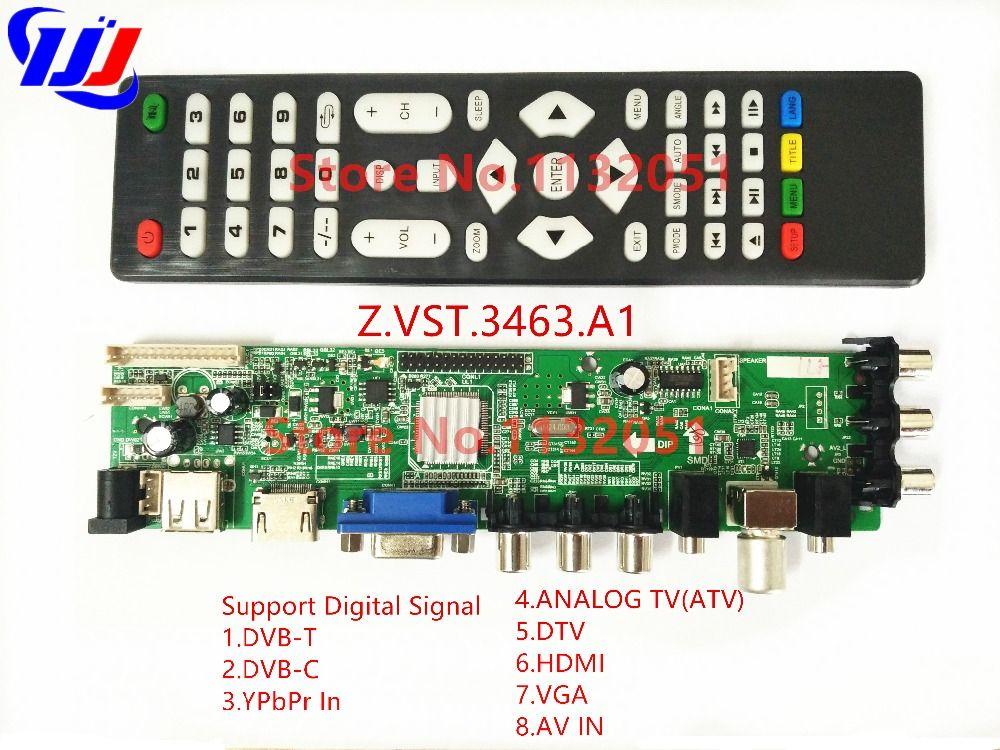 DS. D3663LUA. A81.2.PA V56 V59 Universal LCD Treiber-platine Unterstützung DVB-T2 Universal TV Bord 3663