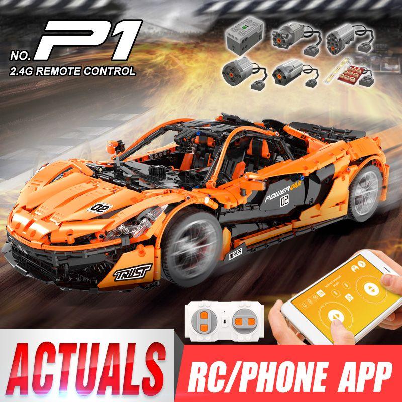 DHL 20087 The Legoingly MOC-16915 McLaren P1 Racing Car Set App RC Technic Car Toys Building Blocks Bricks Kids Christmas Gifts