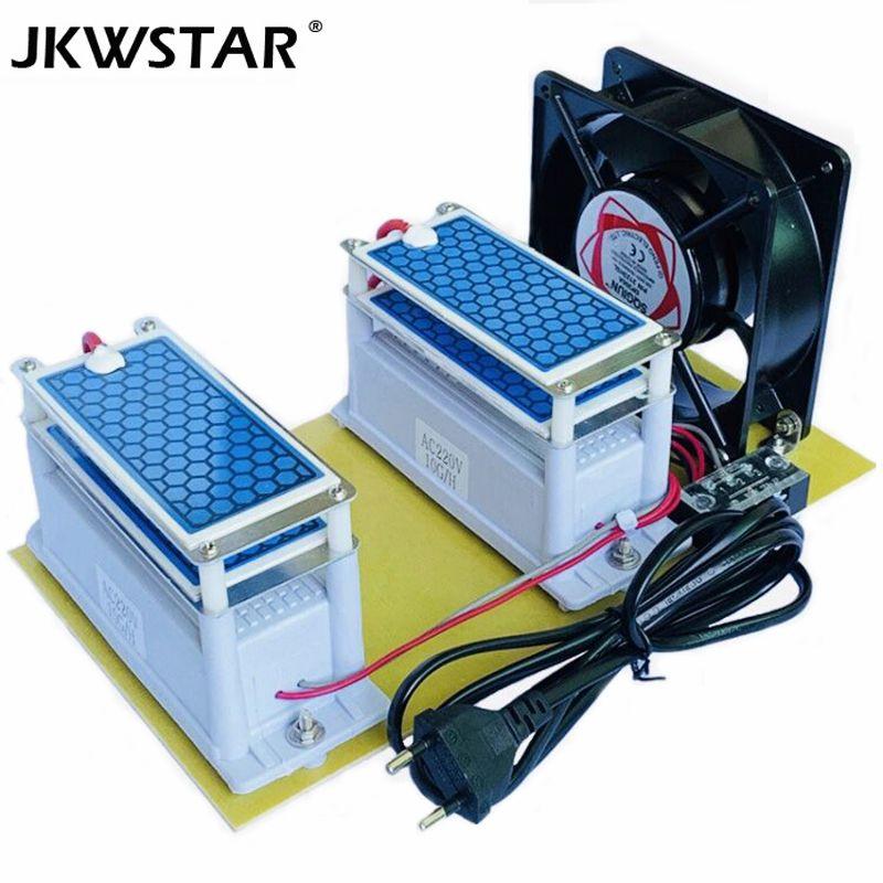 Tragbare Keramik Ozon Generator 220 v/110 v 20g Doppel Integrierte Lange Lebensdauer Keramik Platte Ozonisator Luft Wasser luftreiniger