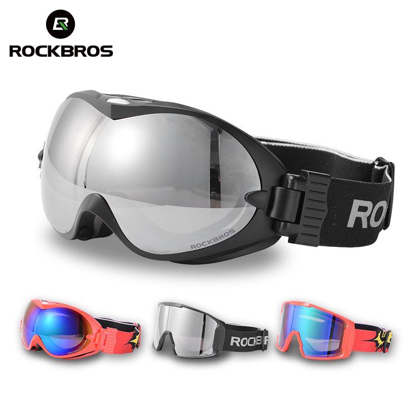 ROCKBROS лыжные очки двойной слоя анти-туман Очки снег Лыжный Спорт UV400 очки сноуборд pc объектив Большой маска Для мужчин Для женщин зимние спор...