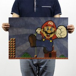 Super Mario Classic Games  Vintage Kraft Paper Movie Poster Home School Office Wall Decoration  Art  Retro Posters and Prints