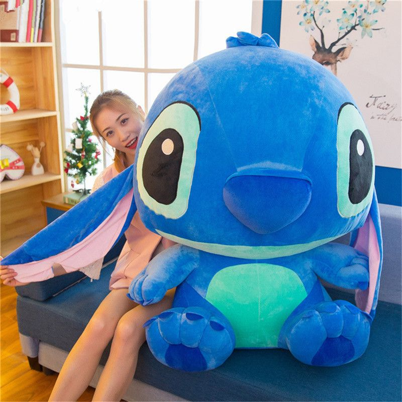 35-80cm Giant Cartoon Stitch Lilo & Stitch Plush Toy Doll Children Stuffed Toy For Baby Birthday Christmas Children Kid Gifts