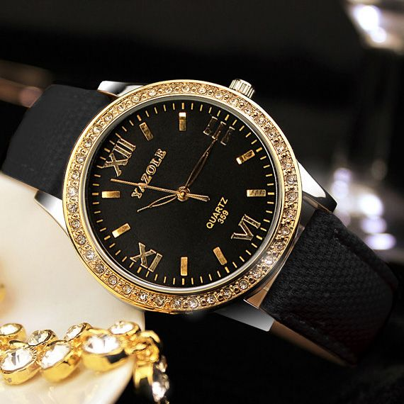 YAZOLE Golden Diamond Gold Watch Women Ladies Famous Brand Luxury Quartz Watch Wrist Female Clock <font><b>Montre</b></font> Femme Relogio Feminino