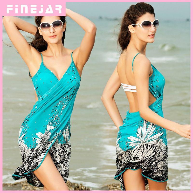 Saida de praia femmes été Robe de Plage Couverture de Plage pareo pour bikini Negril Imprimé floral croisé plage Sarong paréo FJ41714 h2