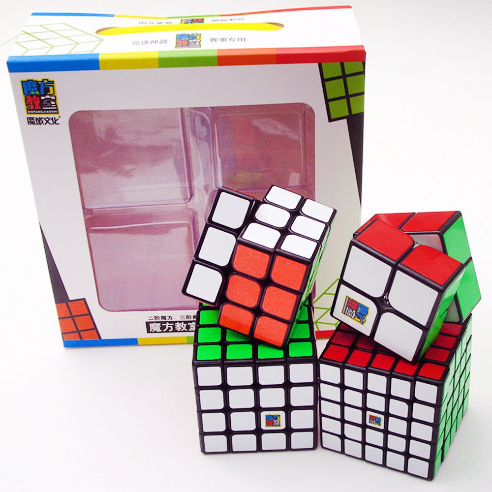 4PCS/set MoYu 2*2 on 3*3 4*4 5*5 Speed Puzzle Magic <font><b>Cubes</b></font> Classroom 3x3x3 4x4 5x5x5 2x2x2 Rubic Rubix Cubo Megico Mofangjiaoshi