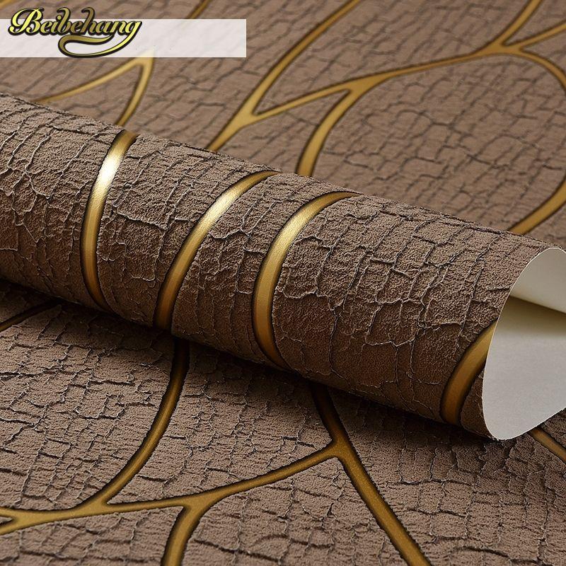 Línea de Piel De Venado beibehang papel de parede 3D Flocado Papel Tapiz Para Sala de estar Dormitorio Decoración Del Hogar de la Pared 3D rollo de Papel palacio