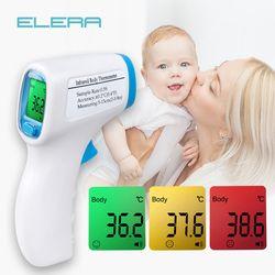 ELERA termómetro Digital cuerpo fiebre temperatura Medición de la frente sin contacto termómetro infrarrojo IR LCD Bebé y adulto