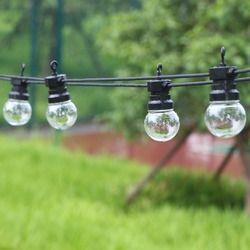 13m 20 bulbs festoon Led globe bulb led string lights outdoor waterproof led ball string garland party wedding Backyard Patio