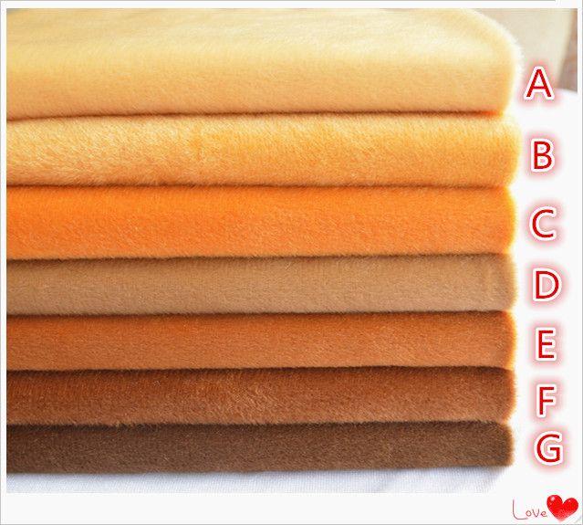 50*150 cm velours tissu mètre marron en Peluche polaire à la main coton Patchwork couture Textiles poupée feutre Telas Peluche Costura Tissus