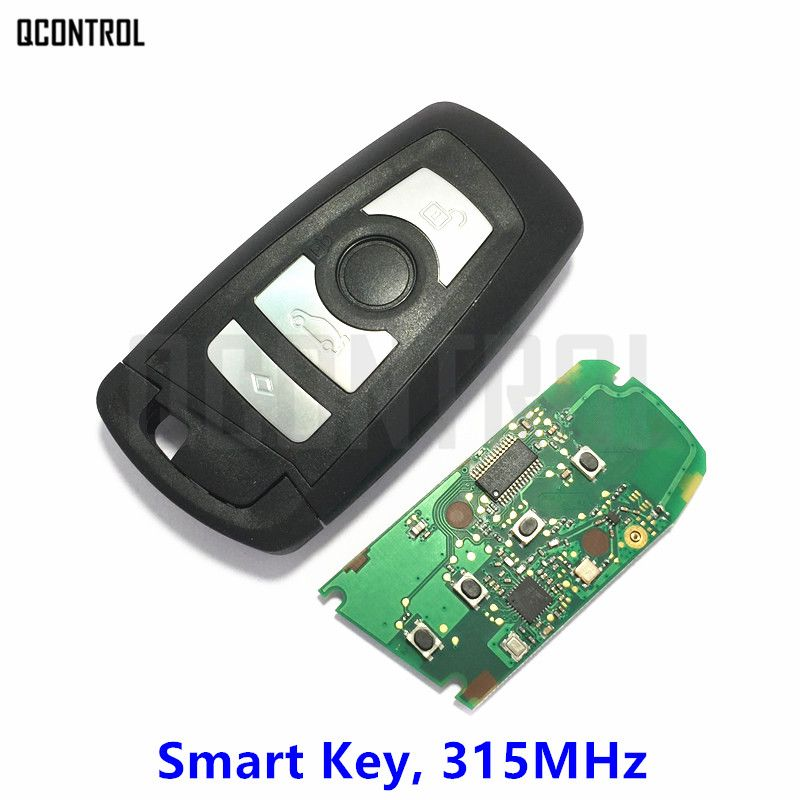 QCONTROL Car Remote 4 Buttons Smart Key for BMW 1 3 5 7 Series CAS4 CAS4+ Control Alarm Frequency 315MHz