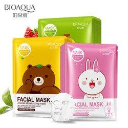 BIOAQUA Skin Care Animal Water Facial Mask Moisturizing Oil Control Whitening Shrink Pores Face Mask beauty Face Care Tony moly