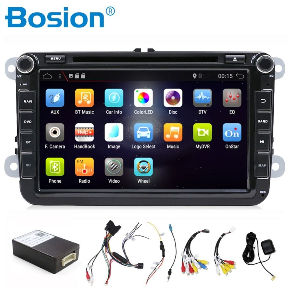 Car Multimedia for VW GOLF CAR DVD for PASSAT B6 B5 JETTA POLO CC TIGUAN OCTAVIA CAR DVD ANDROID WIFI 8 inch Android 7.1