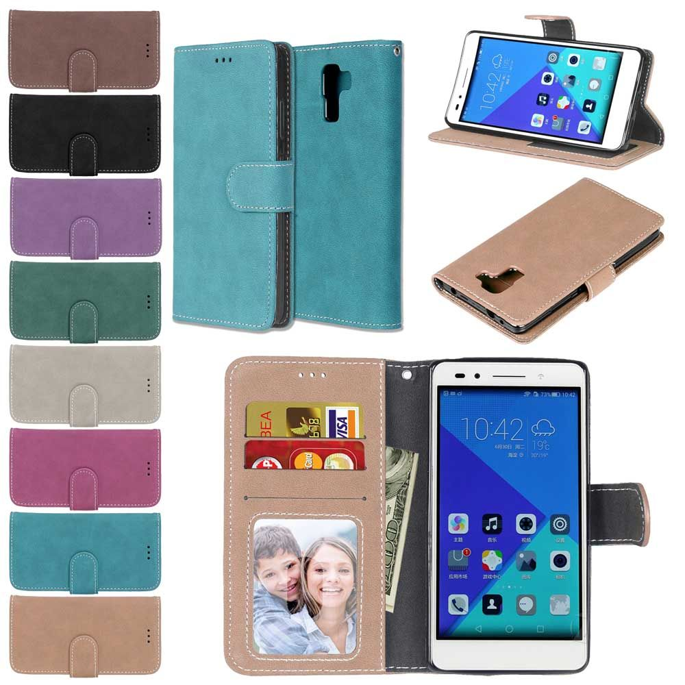 Matte Leather Case For Huawei Honor 6X Retro Phone case Flip Capa Cover Case for Huawei Honor 6X Honor6X Case Luxury Coque