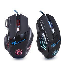 Профессиональная Проводная игровая мышь 7 кнопок 5500 dpi светодиодный оптический USB компьютерная мышь геймер мыши X7 игровая мышь Бесшумная Mause...