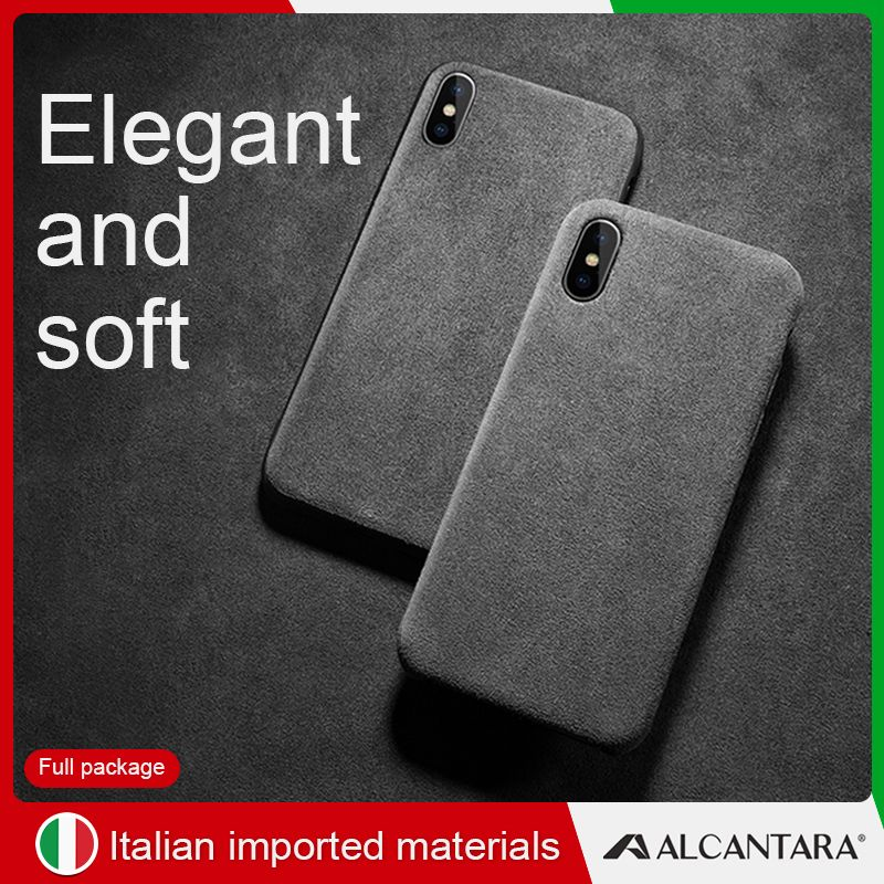 sancore iPhone X XS XR max phone Case Leather cover ALCANTARA fasion Business Anti-fall leather luxury premium cellphone Case