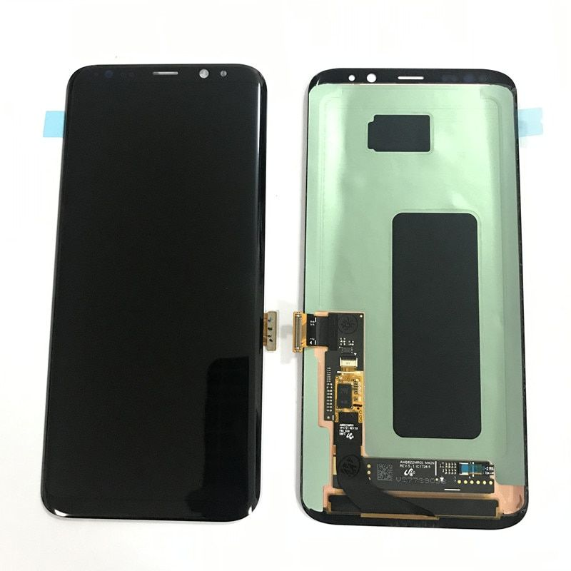 Original For Samsung Galaxy S8 G950 G950F S8Plus G955 G955f Lcd with Frame display touch screen Digitizer Burn in Shadow LCD
