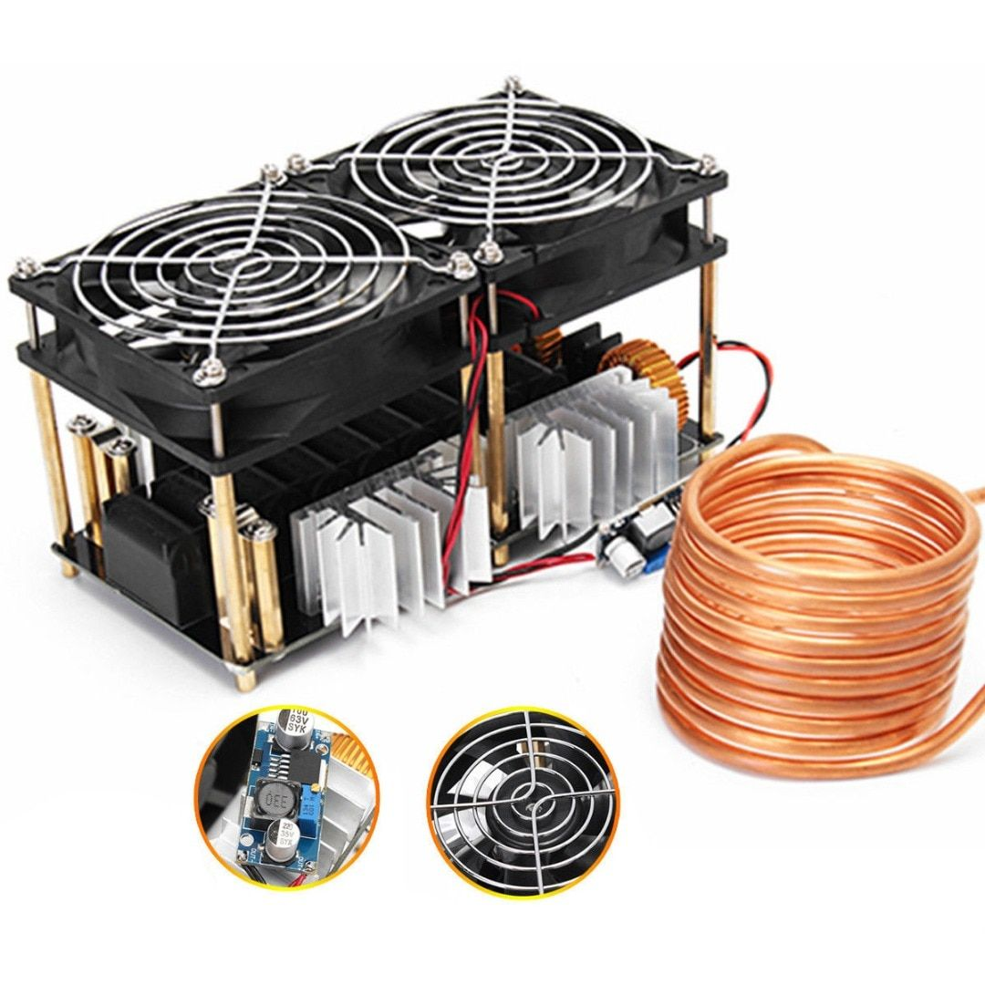 1800W ZVS Induction Heating Board Module Flyback Driver Heater Good Heat Dissipation 180*90*80mm + Coil Mayitr