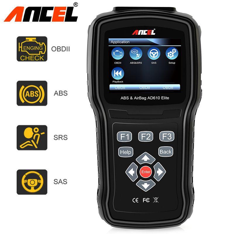 Ancel AD610 Elite OBD2 Car Diagnostics Tool ODB2 OBD 2 Car Airbag SAS Crash Data Reset OBDII ABS Auto Diagnostic Scanner