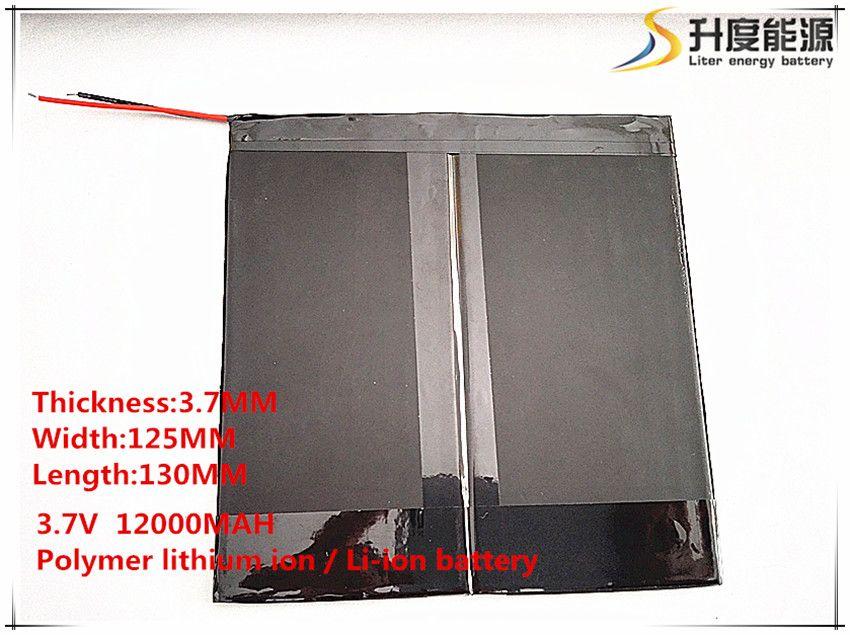 3,7 V, 12000 mAH, [37125130] Polymer lithium-ionen/Li-Ion akku für tablet pc, sanei,, ainol, pipo