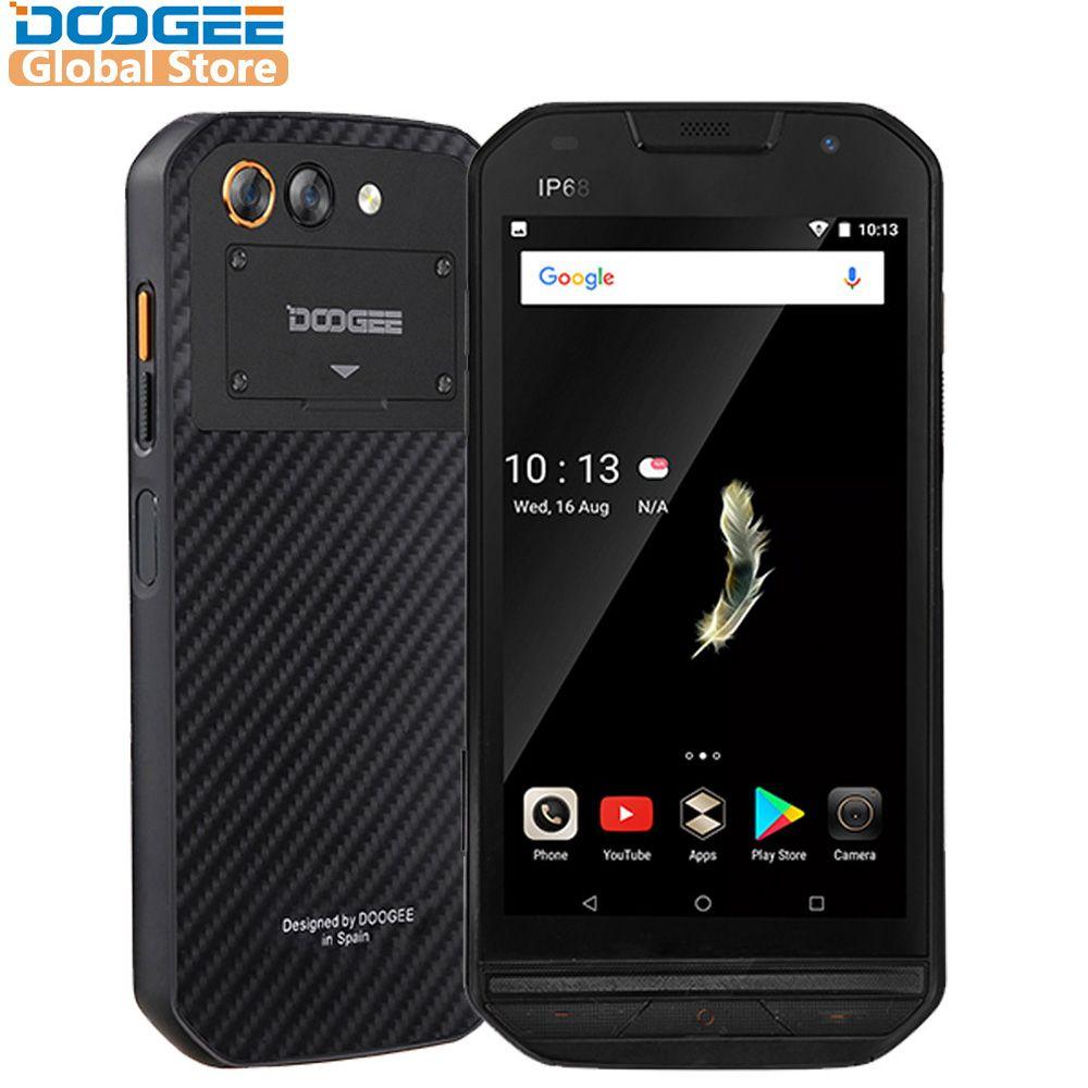 IP68 level DOOGEE S30 Smartphone Side Fingerprint 2GB 16GB Dual Camera 5580mAh 5V/2A Quick Charge 5.0