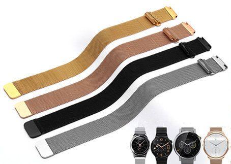 16 18 20 22 мм Для мужчин леди серебристый, черный золото розовое золото сетки Milanese Loop Сталь браслет наручные часы ремешок ремень Магнитная коне...