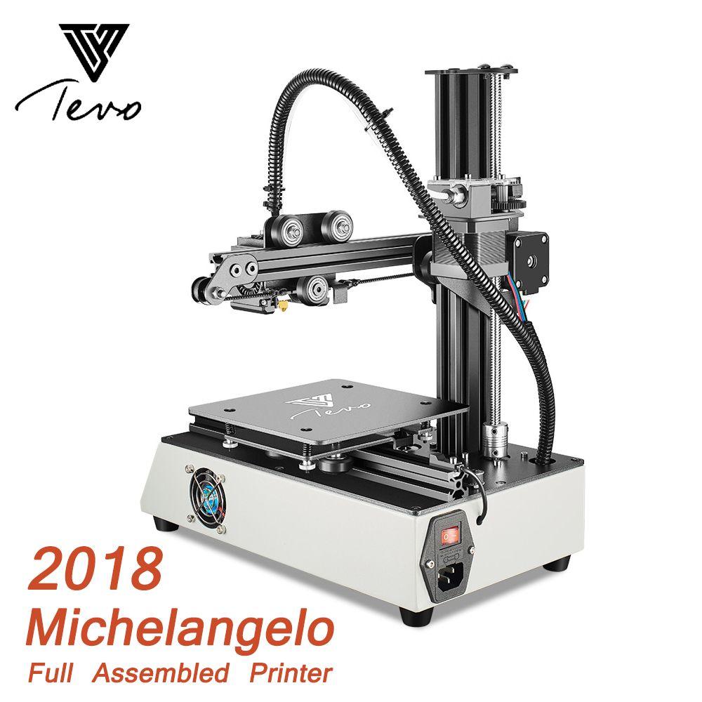 2018 Newest TEVO Michelangelo 3D Printer Impresora 3D Fully Assembled 3D Printer Kit Full Aluminum Frame Titan Extruder