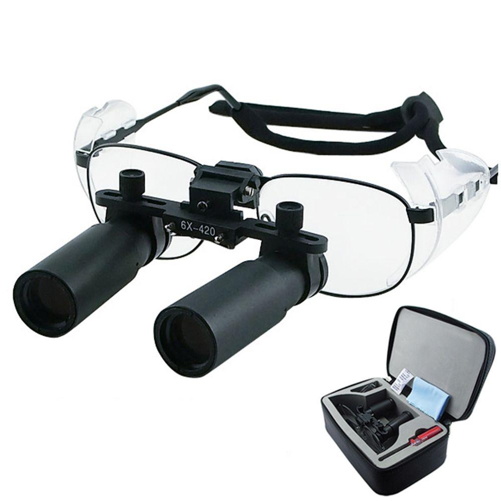 6.0x 6x Binocular Chirurgische Medizinische Zahnmedizin Titan Rahmen 420mm Arbeits Abstand Keplerian Prism Stil Dental Lupen