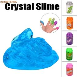 Kaleng Flash Bubuk Jelas Lendir Scented Stres Relief Mainan Lumpur Mainan Tanah Liat Hadiah Mainan Slime Plasticine Mainan Anak Anak