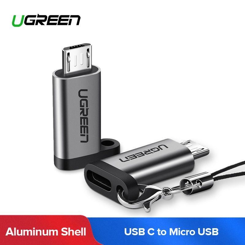 Ugreen USB C zu Micro USB Kabel Adapter Für Xiaomi Huawei QC 2,0 Quick Charge Daten Sync. Micro USB Stecker auf USB C Weibliche Adapter