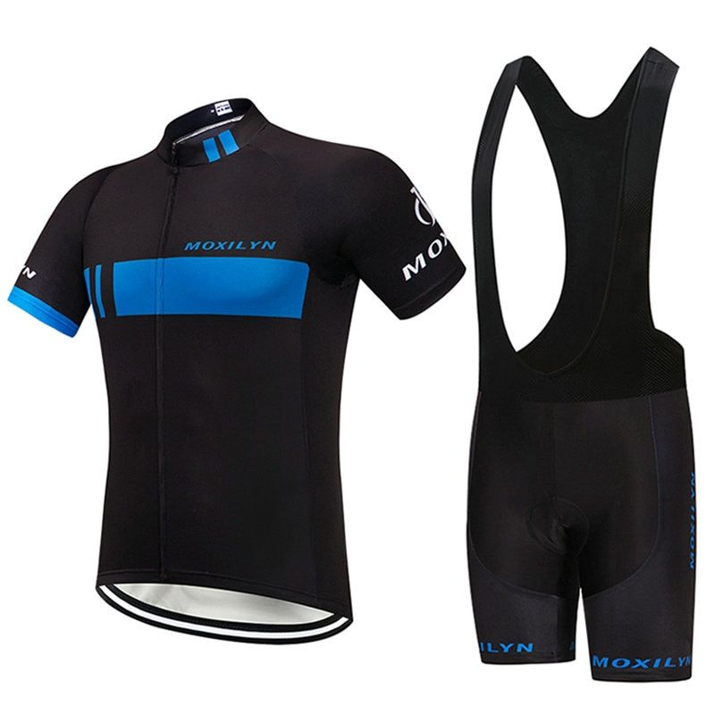 Summer Cycling Jersey Breathale Mountain Bike Clothing Quick-Dry Racing MTB Bicycle Clothes Uniform Cycling Clothing
