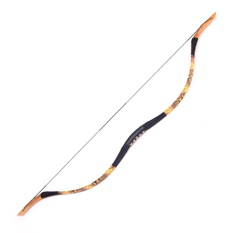 20-100LBS Archery Handmade Fiberglass Bow Pig Leather Han bow Traditional Recurve Bow Free Shipping Outdoor Hunting and Shooting