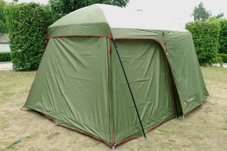 Ultralarge high quality one hall one bedroom 5-8 person double layer 200cm height waterproof camping tent in big promotion price