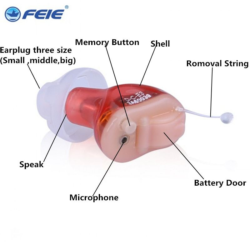 Micro Ear Hear Aid Tinnitus S-17A CIC Appareil auditif invisible Severe Hearing Aids for Hearing Difficult Drop Shipping