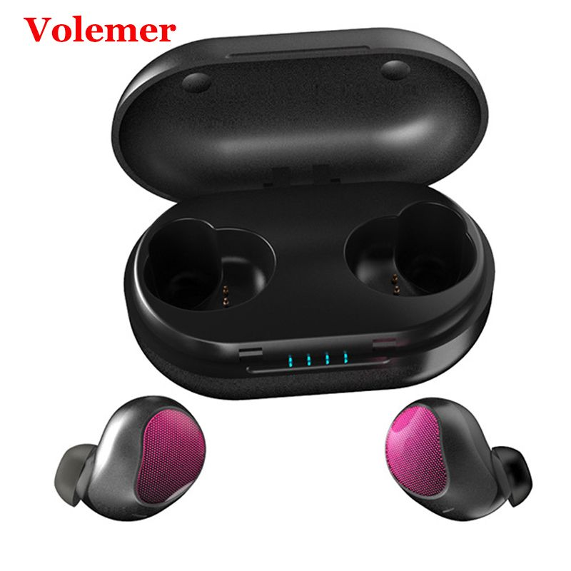 Volemer Tws T10 Mini écouteurs sans fil Bluetooth étanche Sport casques avec 1200 Mah boîte de charge double écouteurs pour Xiaomi