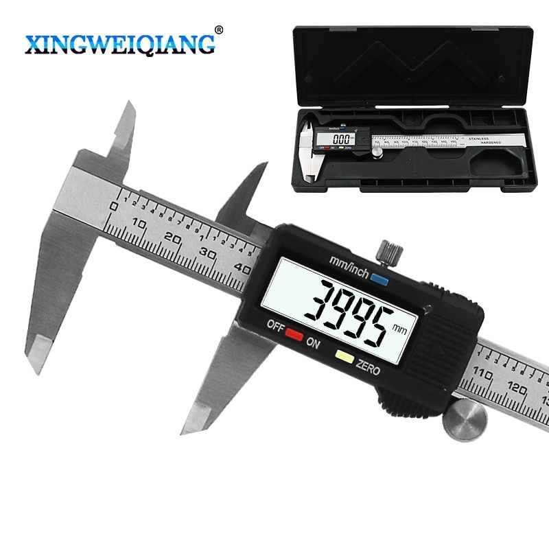 6 Inch 0-150mm Measuring Tool Stainless Steel Caliper Digital Vernier Caliper