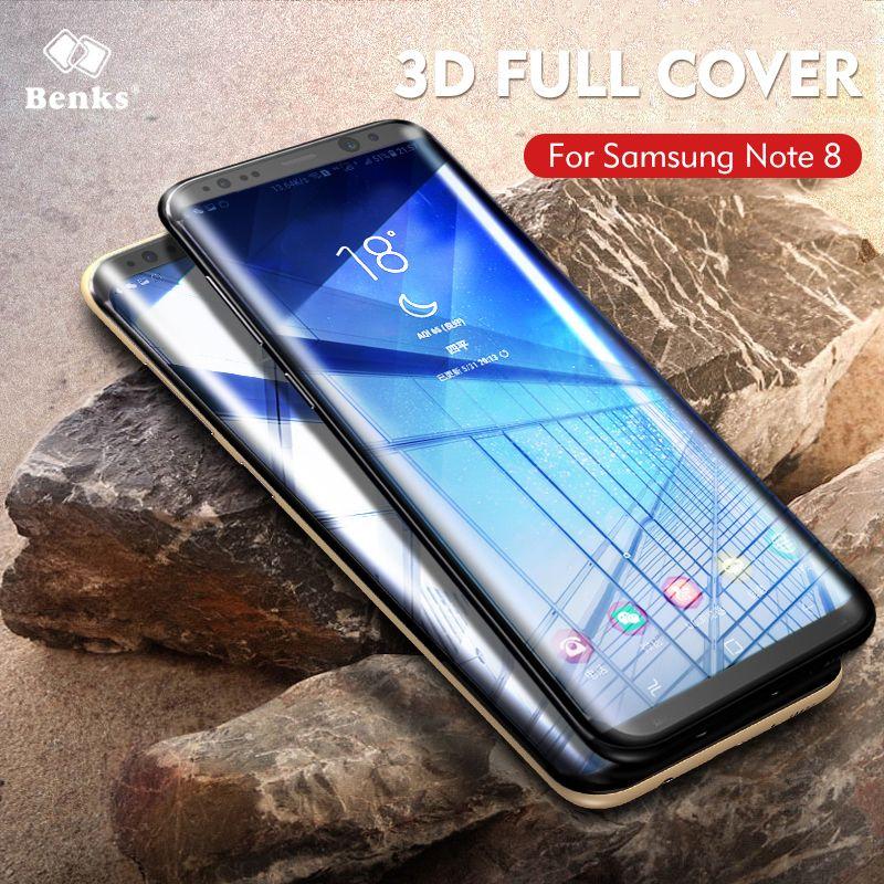 Benks 3D Gebogene Glas Für Samsung-anmerkung 8 Displayschutzfolie Anti-Explosion Ausgeglichenes Glas-schirm-schutz Für Hinweis 8 Film