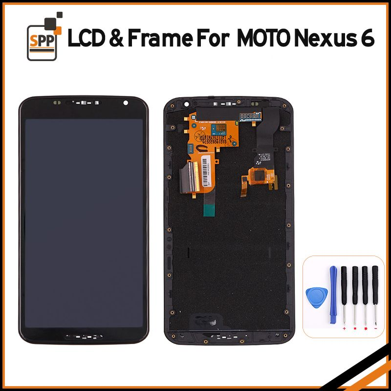 Original LCD Screen For Motorola Moto Nexus 6 XT1100 XT1103 LCD Display Touch Screen With Frame Digitizer Assembly+Tool