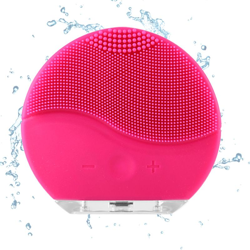 New Electric Facial Cleansing Brush Silicone Sonic Vibration Mini Cleaner Deep Pore Cleaning Skin Massage face brush cleansing