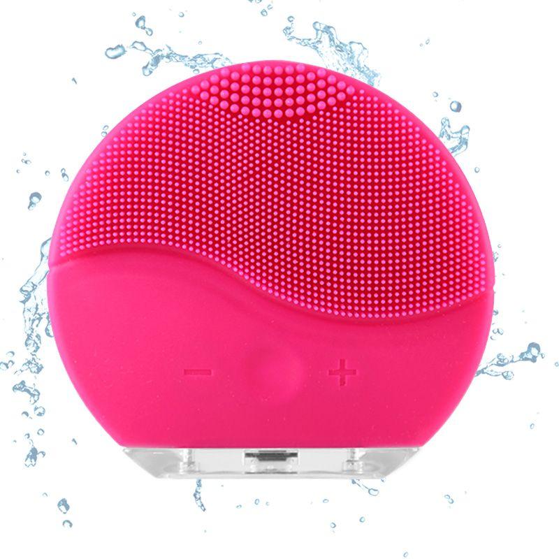 Nouveau Électrique Nettoyage Du Visage Brosse Silicone Sonic Vibration Mini Nettoyage En Profondeur Des Pores De Nettoyage Peau De Massage visage brosse nettoyage